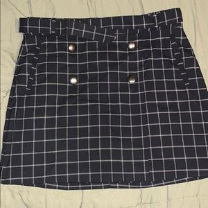 Plaid fashion skirt